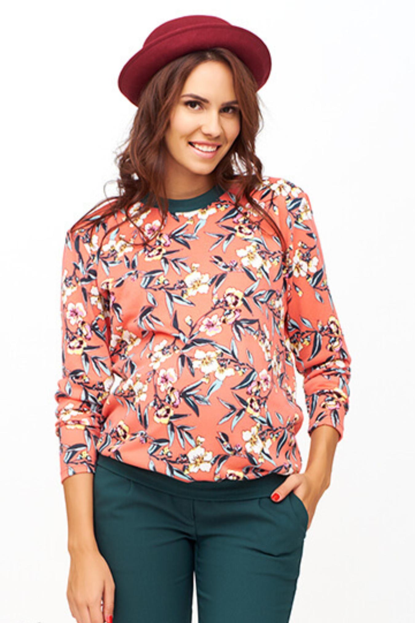 Пуловер с цветком доставка