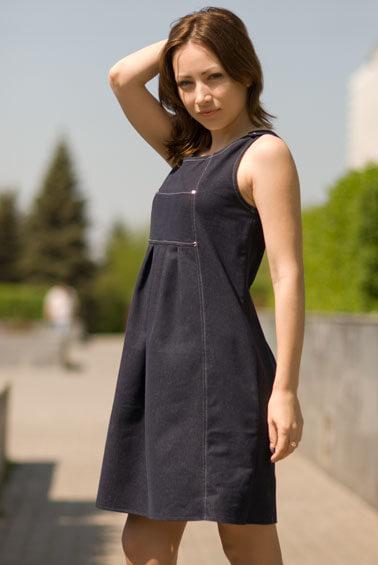 Комментарий: Женские джинсовые сарафаны. подойдут сарафаны,сшитые из плотной ткани