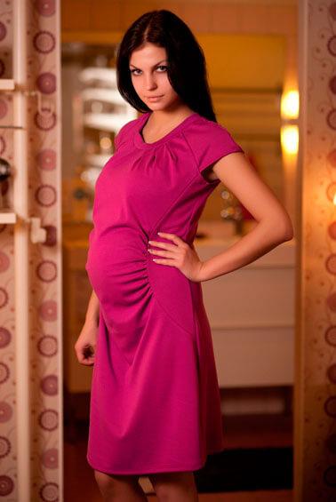 Платье для беременных, малиновое, интернет магазин Happy-Moms.ru 31b0303ce37