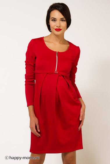 Платья для беременных красное