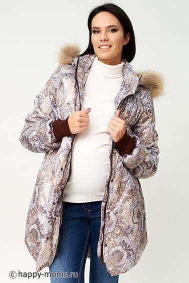 Зимнее пальто для беременных купить интернет магазин Happy-Moms.ru 76c7aeda6afec