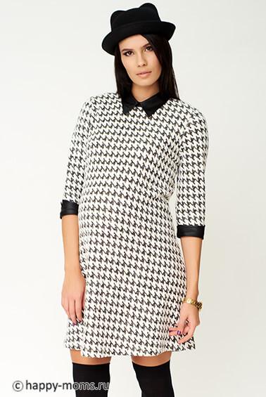 34a8d32424e Теплое платье для беременных 99316 интернет магазин Happy-Moms.ru