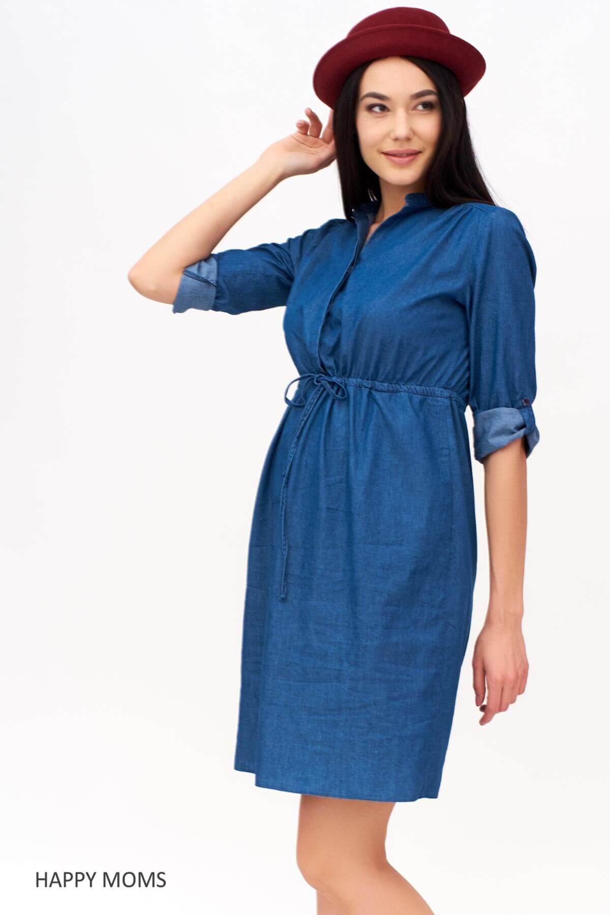 9c6f10890f37 Платье из тенсела для беременных и кормящих купить Happy-Moms.ru