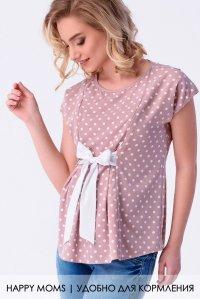 fd9aff2209619 Блузка для беременных и кормящих с бантом купить интернет-магазин