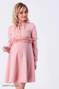 bc78cb693d2cc5d Платье розовое с кружевом для беременных купить интернет магазин
